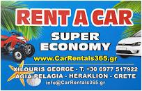 CarRentals365.gr - Ενοικιάσεις αυτοκινήτων στην Αγία Πελαγία Κρήτης